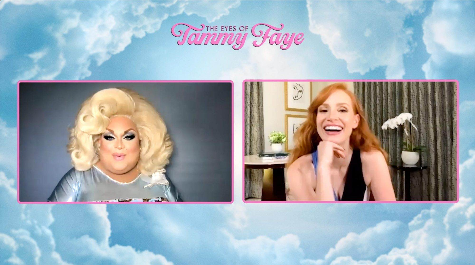 Ginger Minj and Jessica Chastain
