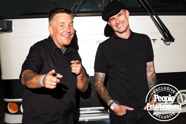 Ken Casey and Al Barr of the Dropkick Murphys photographed at Riot Fest 2021