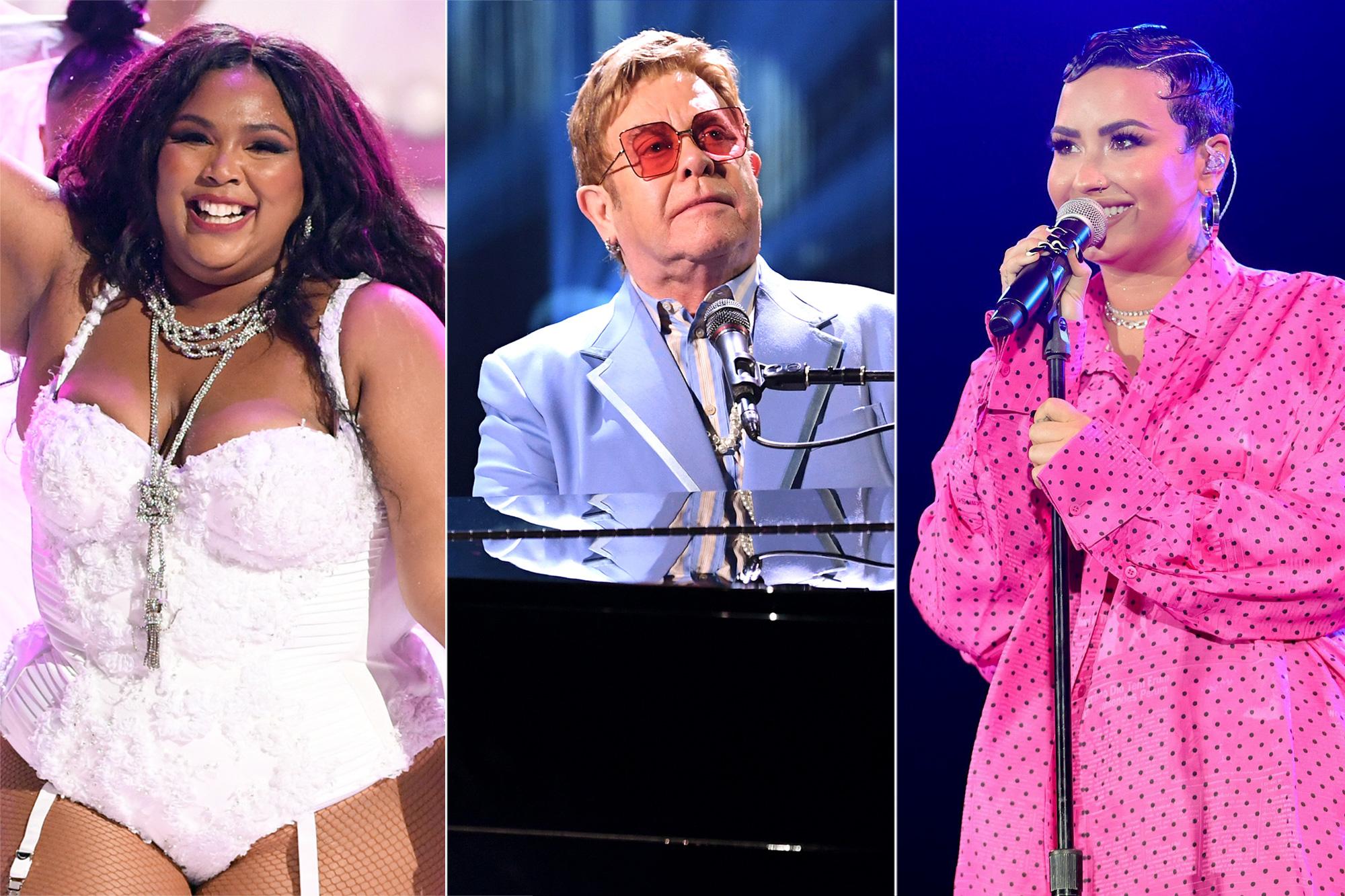 Lizzo, Elton John, Demi Lovato