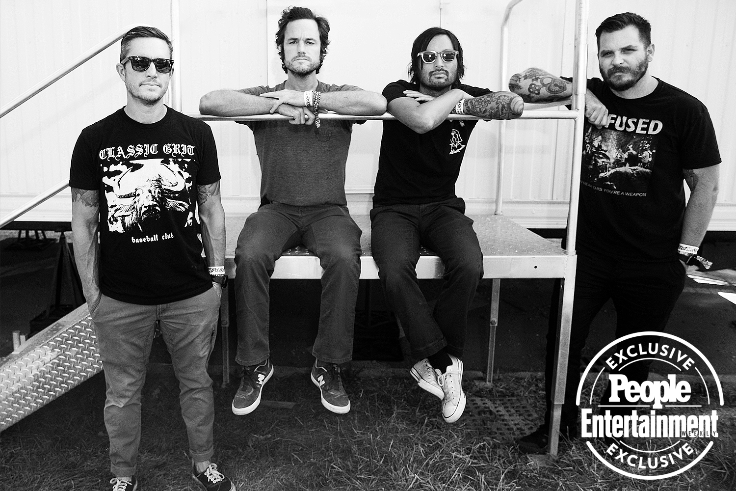 Thrice photographed at Riot Fest 2021