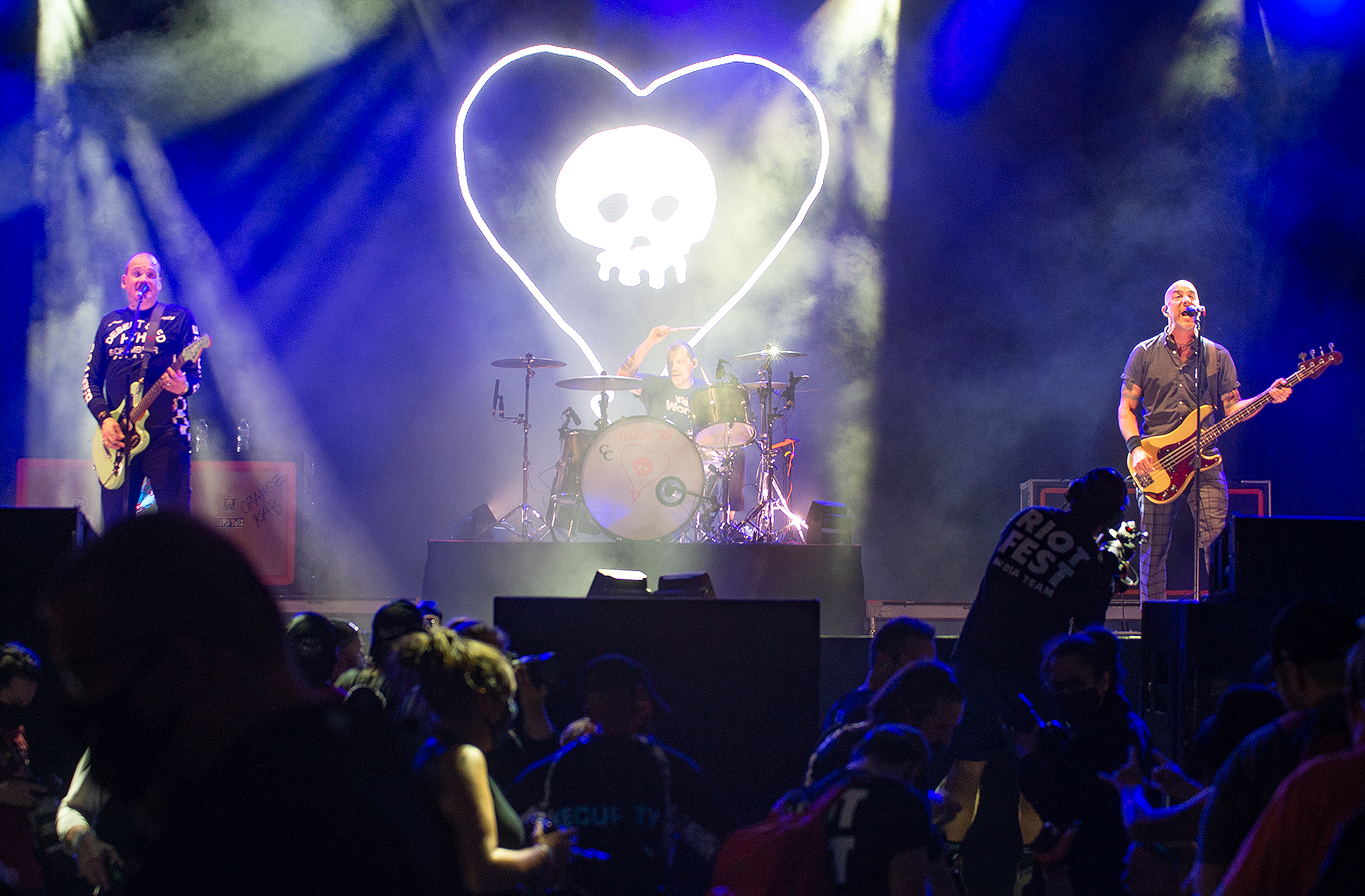The Alkaline Trio photographed at Riot Fest 2021