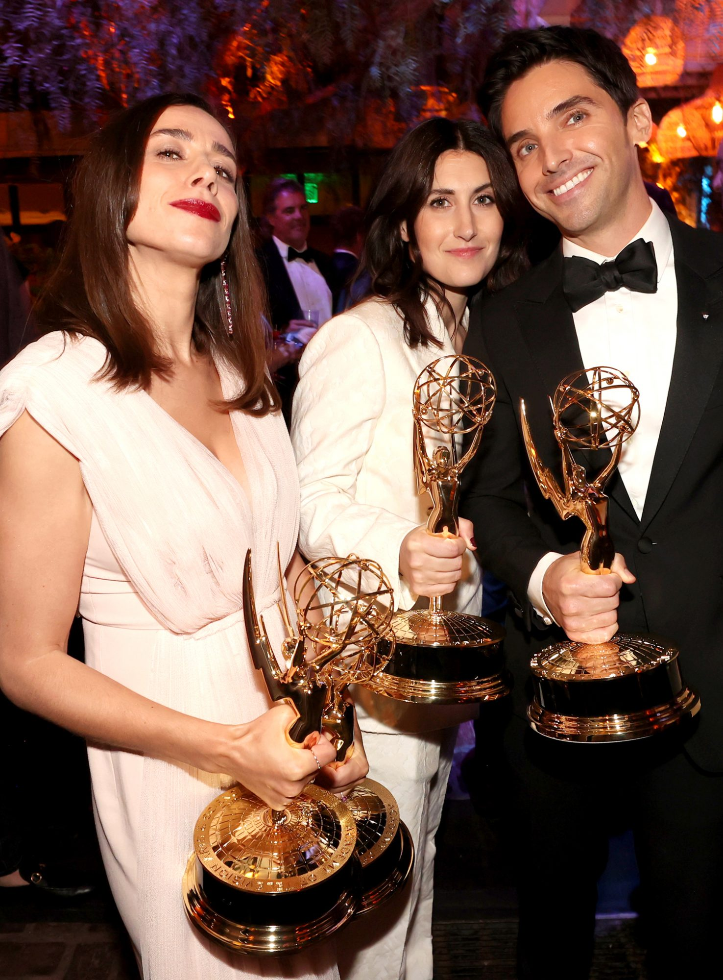Lucia Aniello, Jen Statsky, and Paul W. Downs attend the HBO/ HBO Max Post Emmys Reception