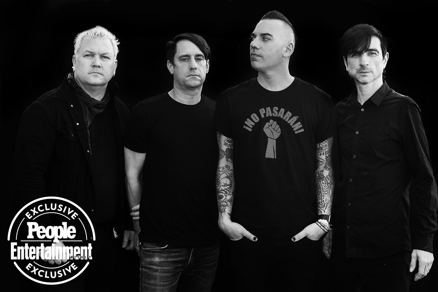 Anti-Flag photographed at Riot Fest 2021