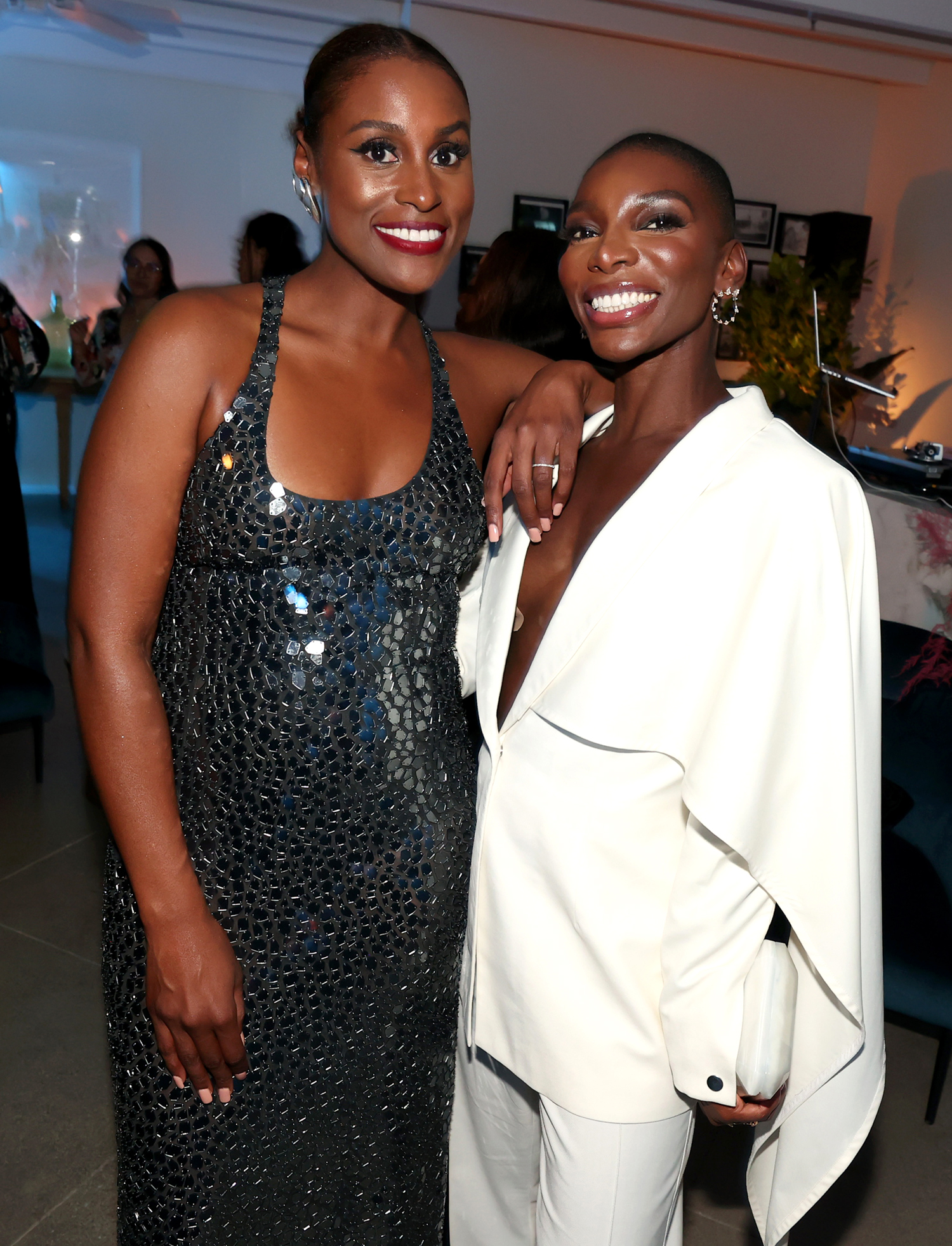 Issa Rae and Michaela Coel attend the HBO/ HBO Max Post Emmys Reception