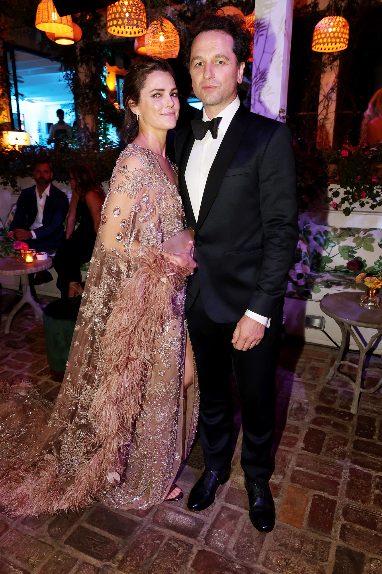 Keri Russell and Matthew Rhys attend the HBO/ HBO Max Post Emmys Reception at San Vicente Bungalows on September 19, 2021