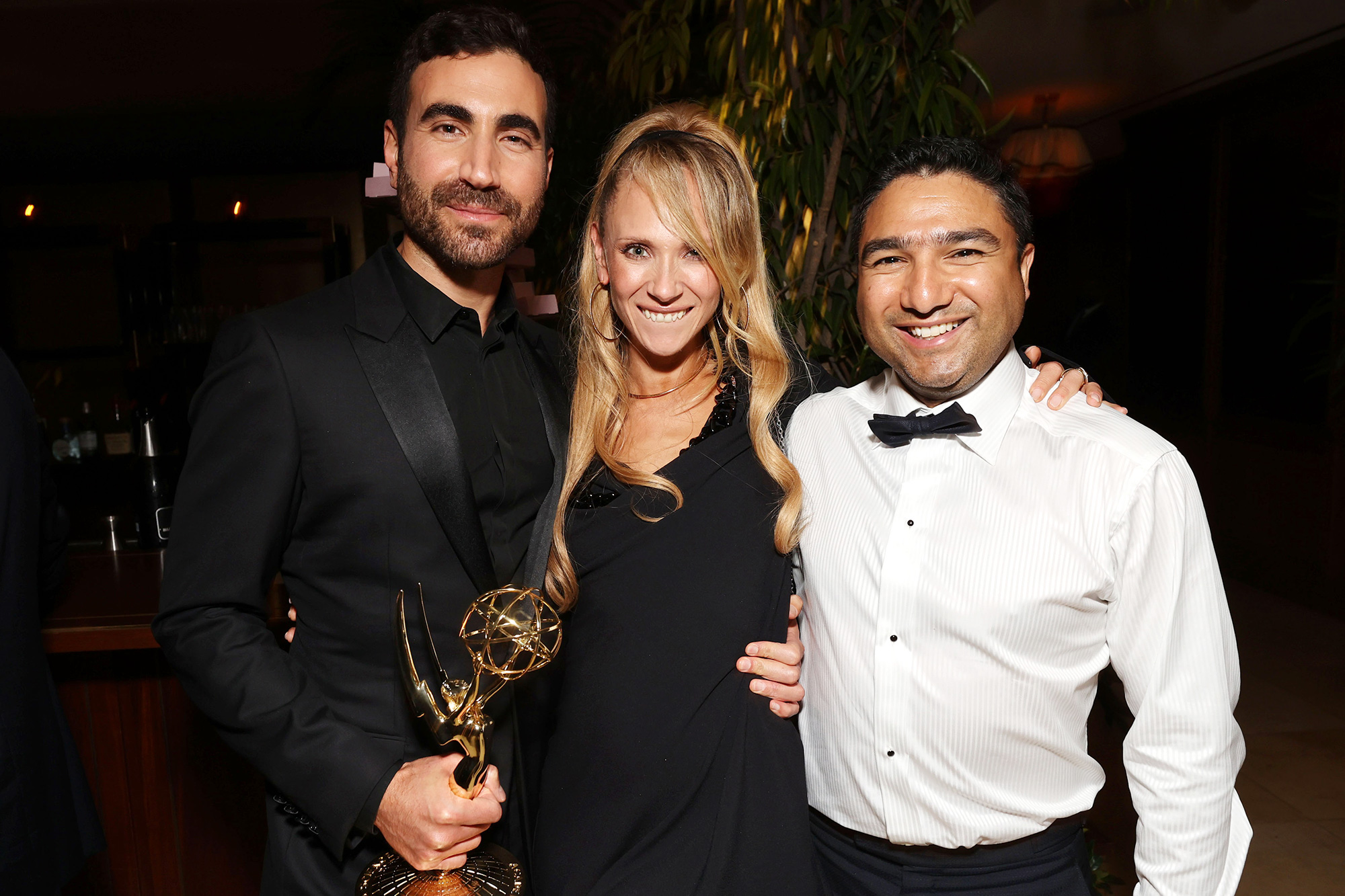 Apple TV+ Ted Lasso Emmy Awards Party Brett Goldstein, Juno Temple and Nick Mohammed