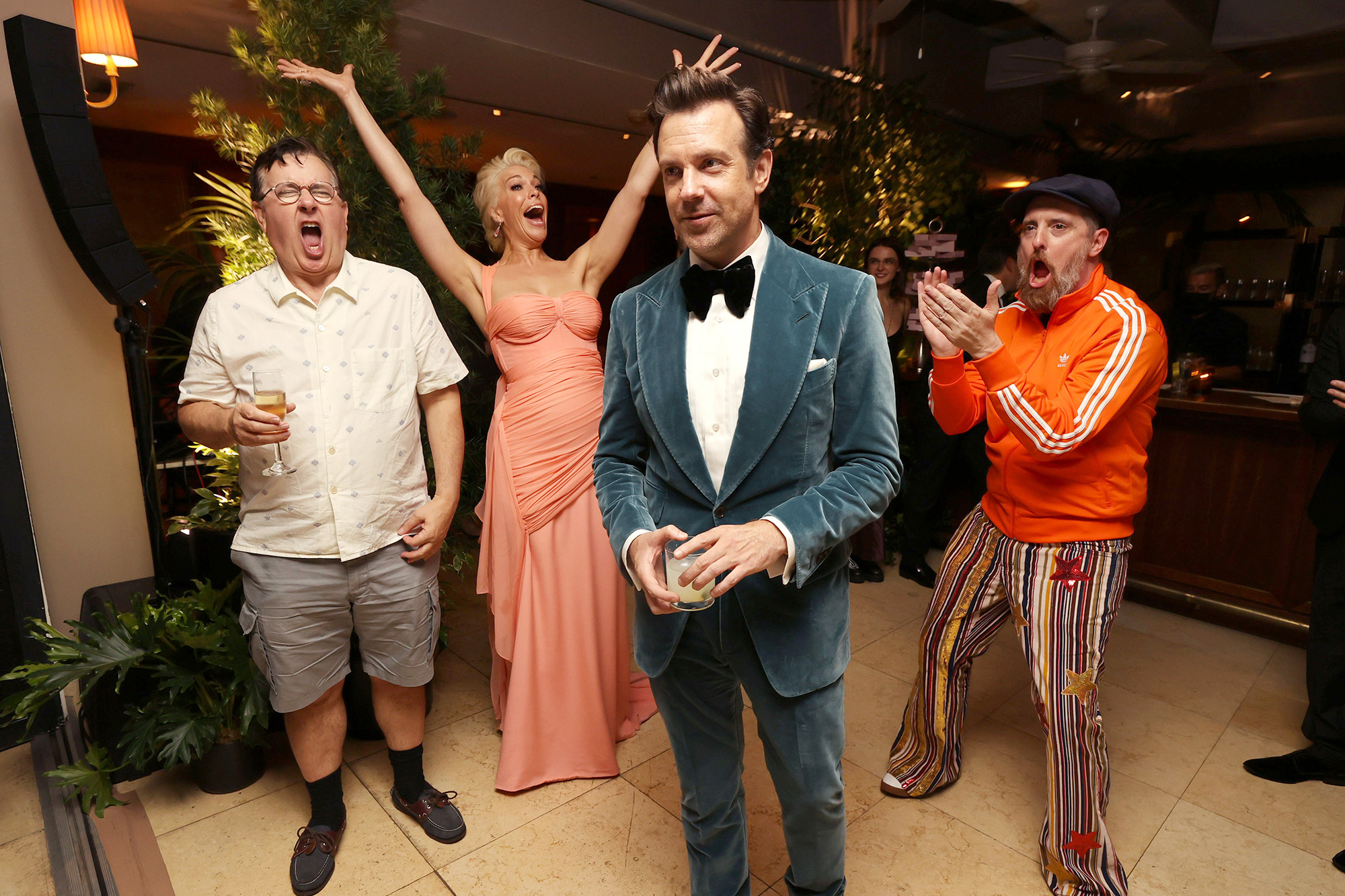 Apple TV+ Ted Lasso Emmy Awards Party Jeremy Swift, Hannah Waddingham, Jason Sudeikis and Brendan Hunt