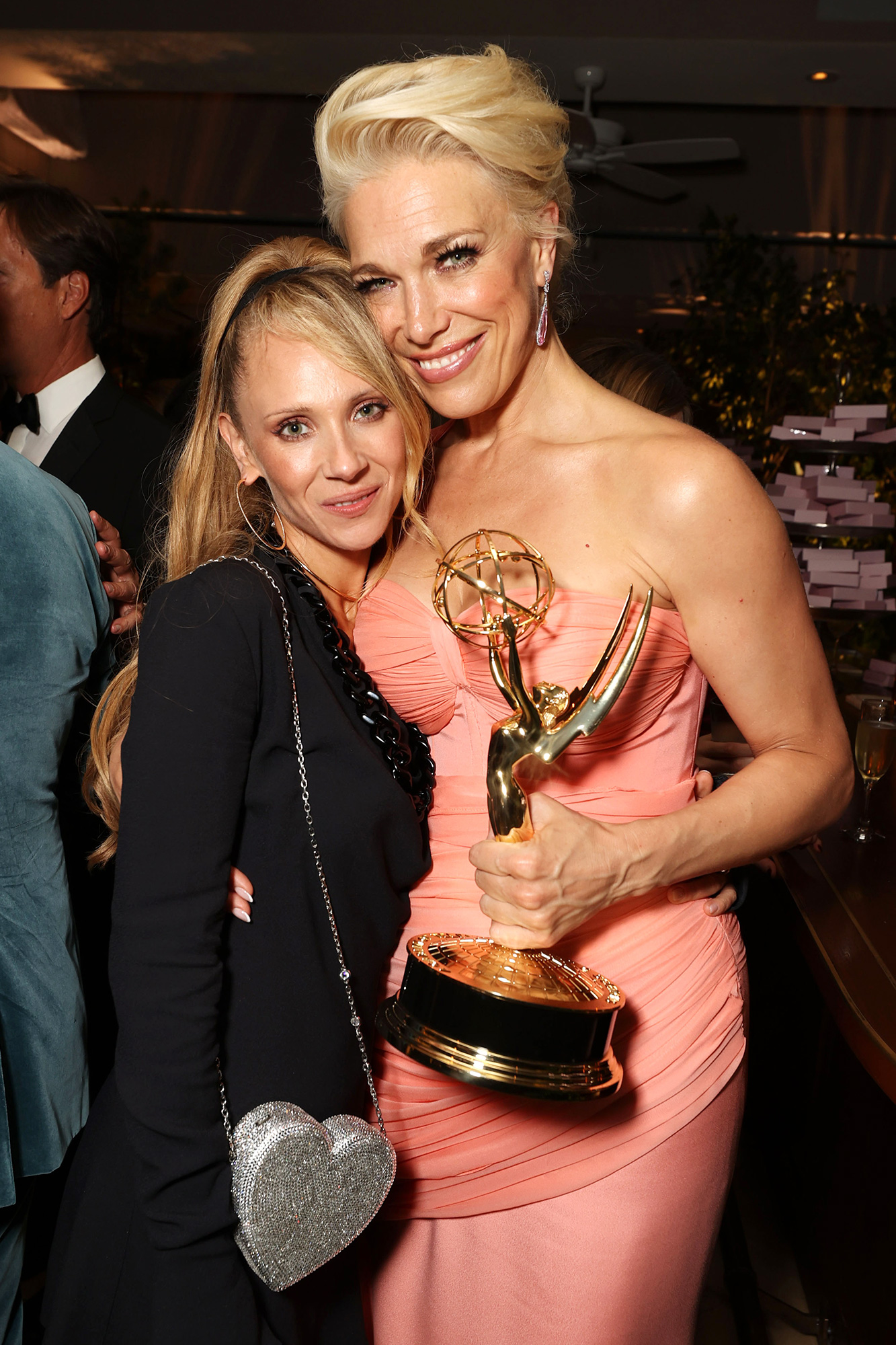 Apple TV+ Ted Lasso Emmy Awards Party Juno Temple and Hannah Waddingham
