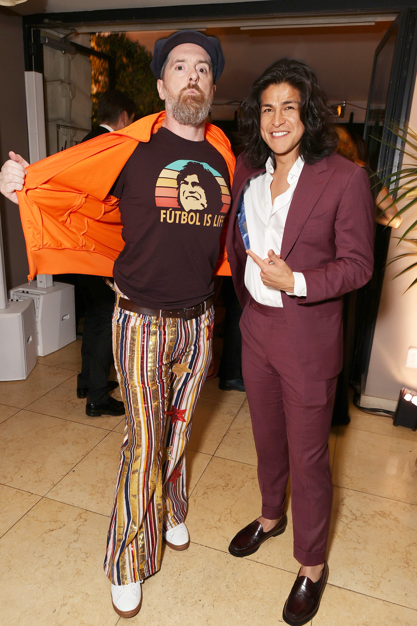 Apple TV+ Ted Lasso Emmy Awards Party Brendan Hunt and Cristo Fernandez