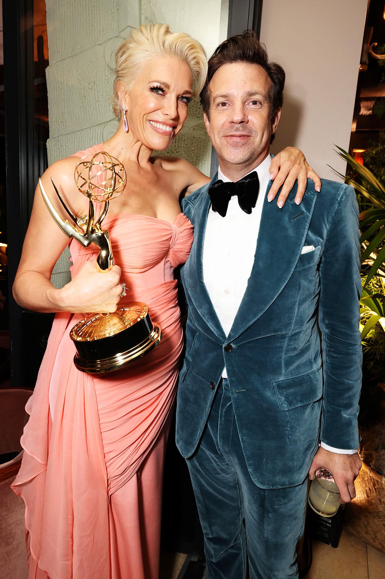 Apple TV+ Ted Lasso Emmy Awards Party Hannah Waddingham and Jason Sudeikis