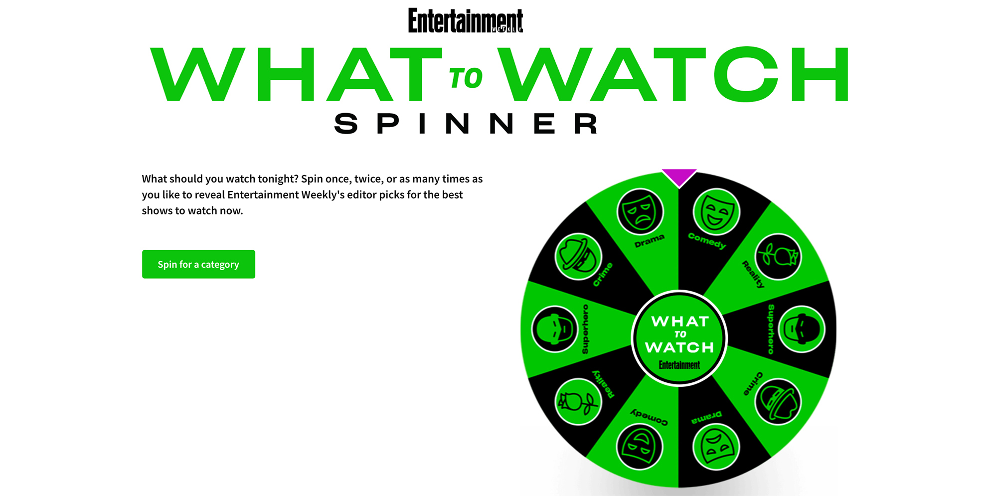 What to Watch spinner