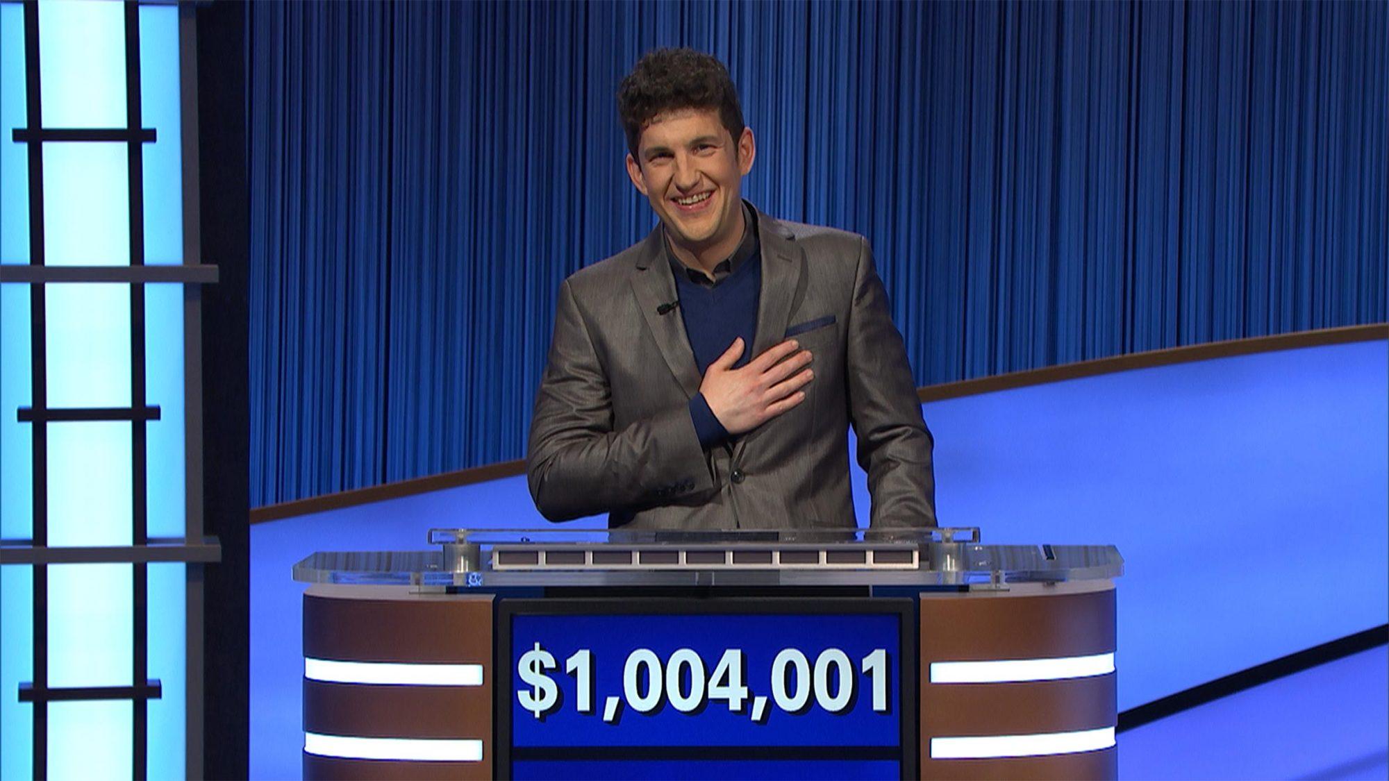 Matt Amodio wins a million dollars on Jeopardy!