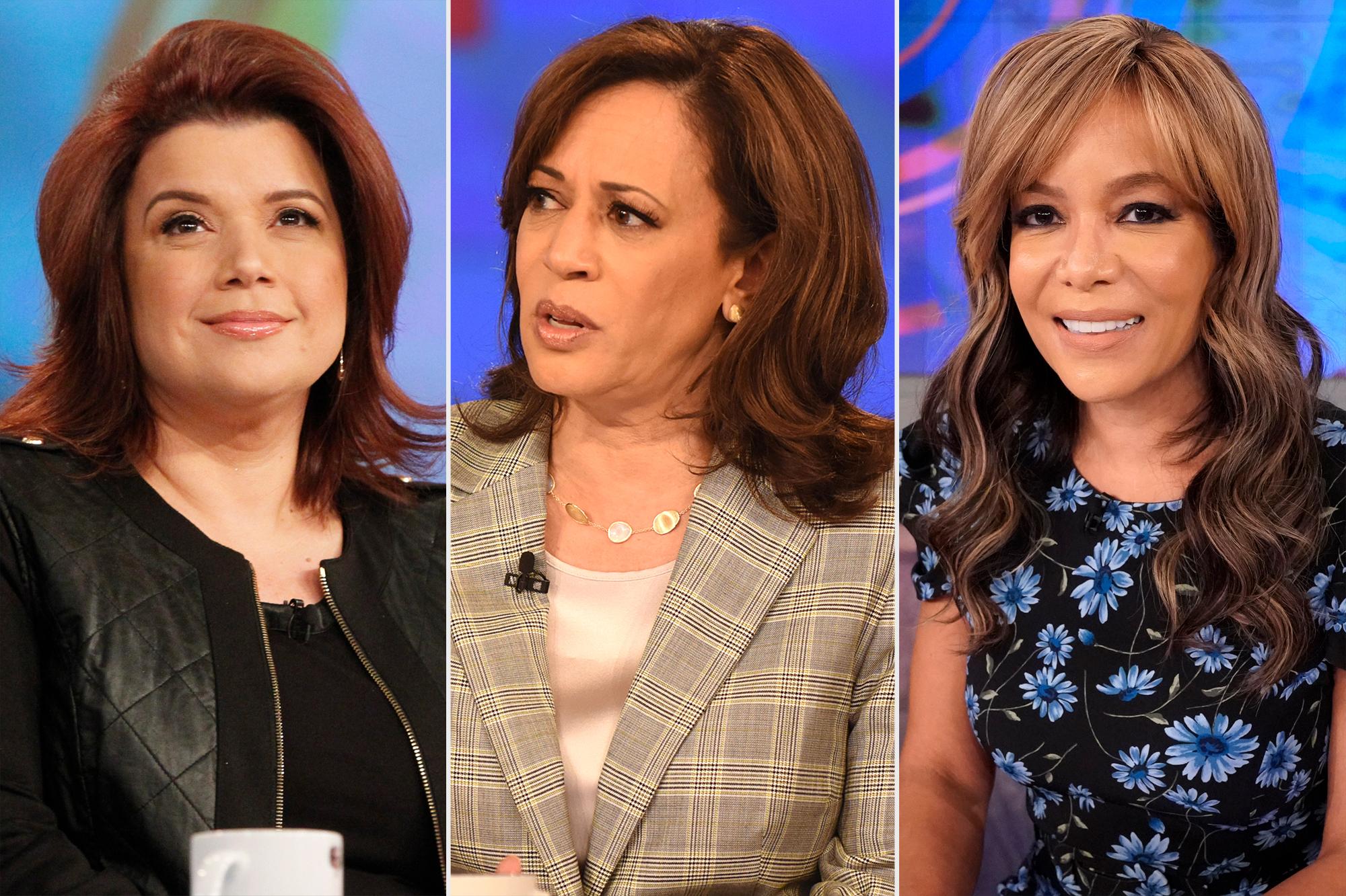 The View Ana Navarro; Kamala Harris; Sunny Hostin