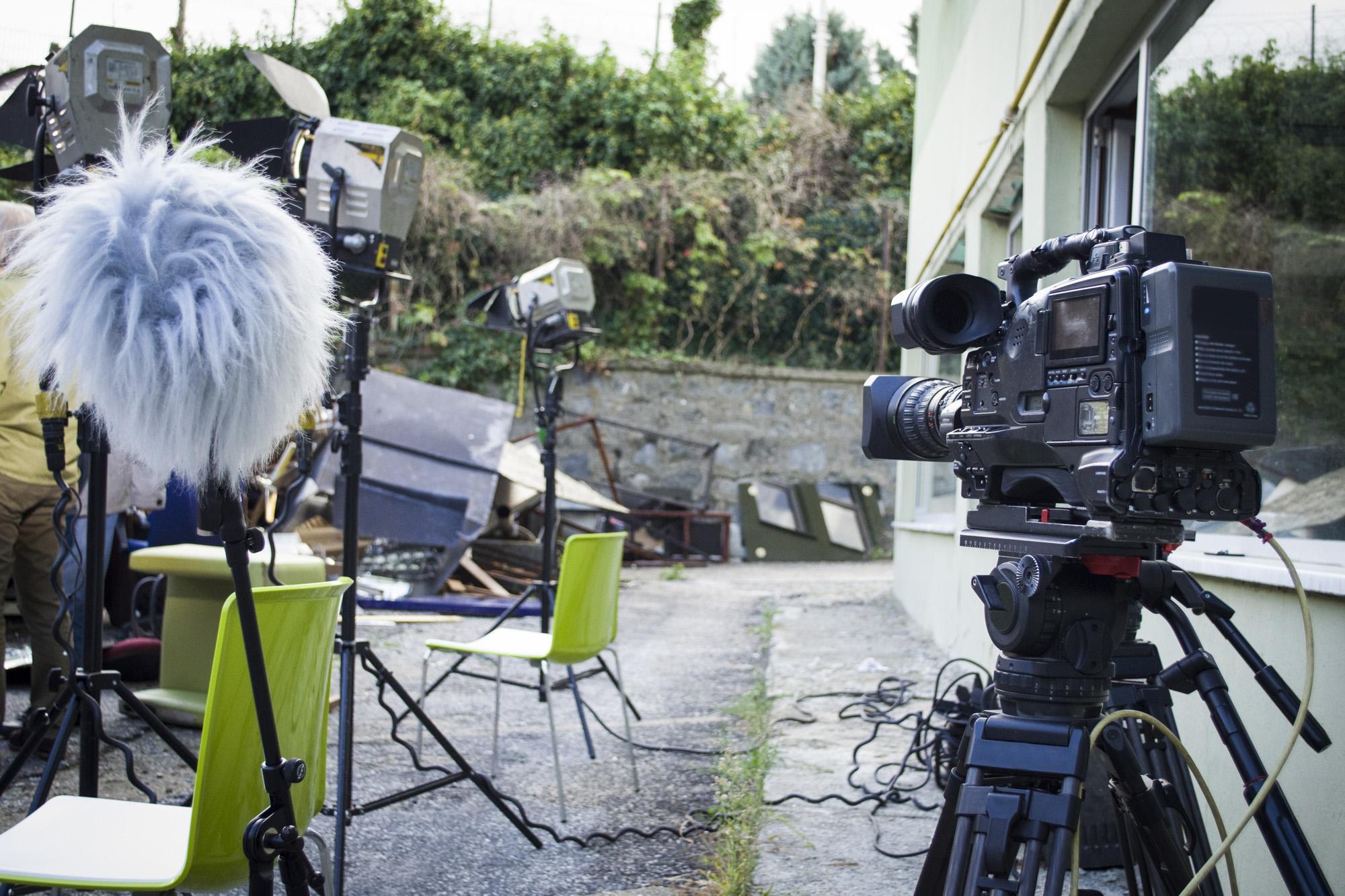 Behind-the-scenes film stock image