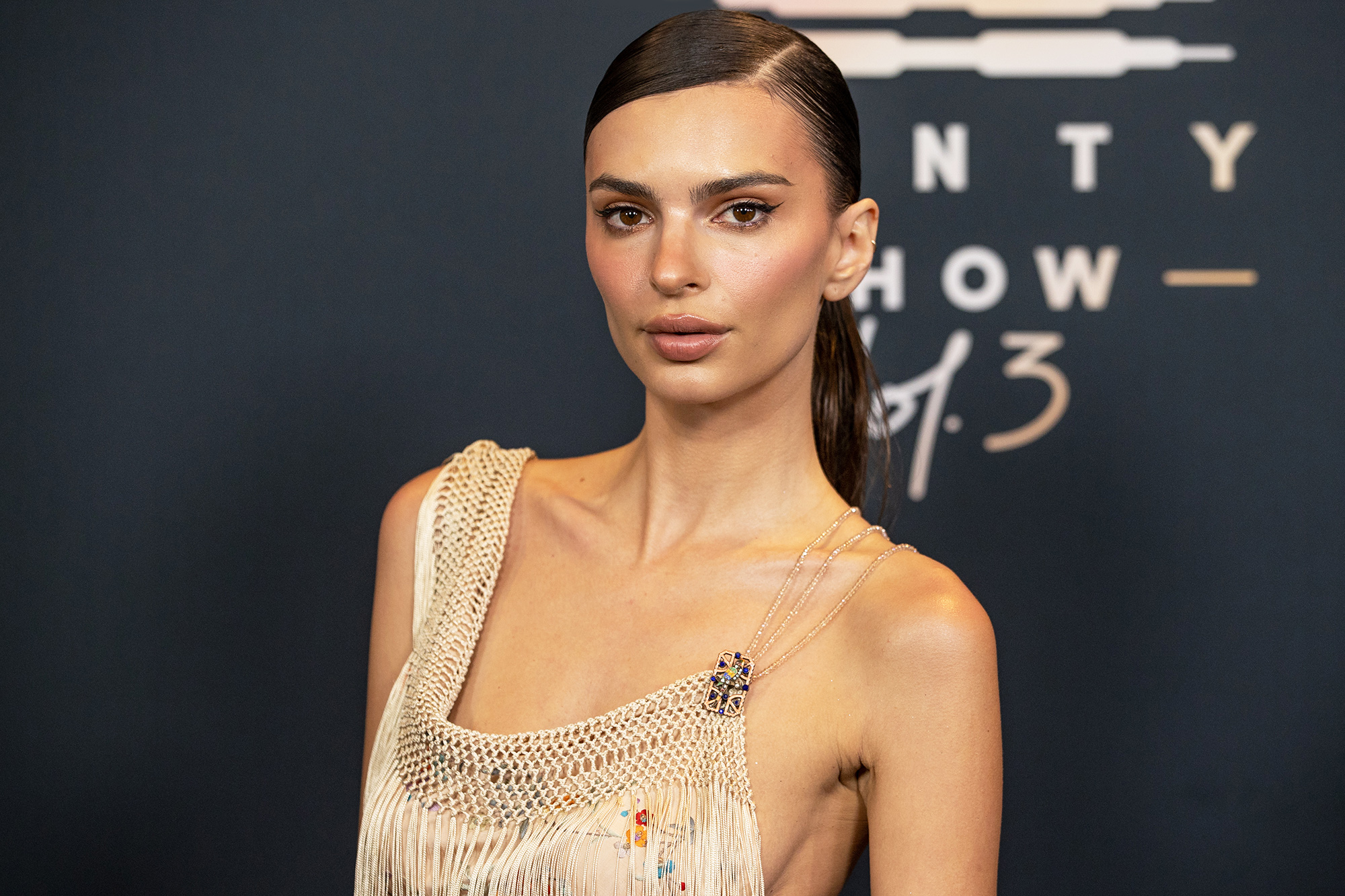 Emily Ratajkowski attends Rihanna's Savage X Fenty Show Vol. 3 presented by Amazon Prime Video at The Westin Bonaventure Hotel & Suites in Los Angeles, California; and broadcast on September 24, 2021.