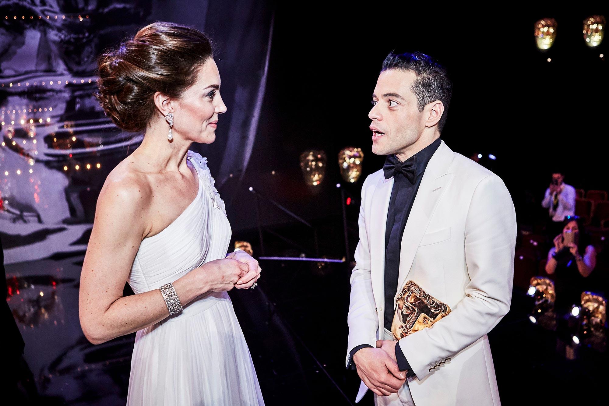 Kate Middleton and Rami Malek