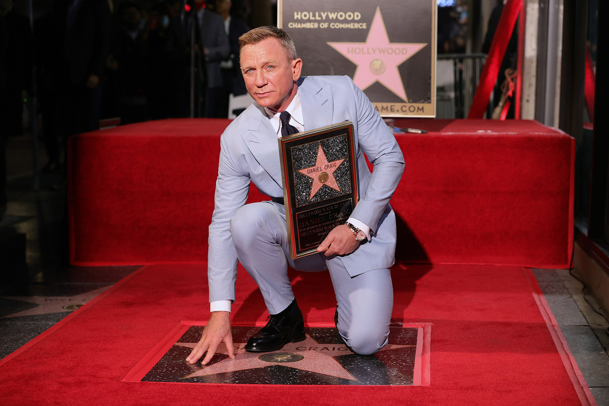 Daniel Craig Honored With Star On The Hollywood Walk Of Fame