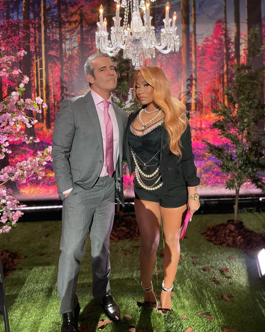 Andy Cohen and Nicki Minaj