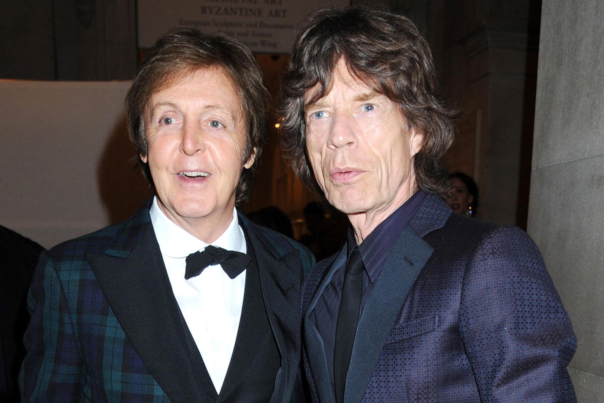 Paul McCartney and Mick Jagger