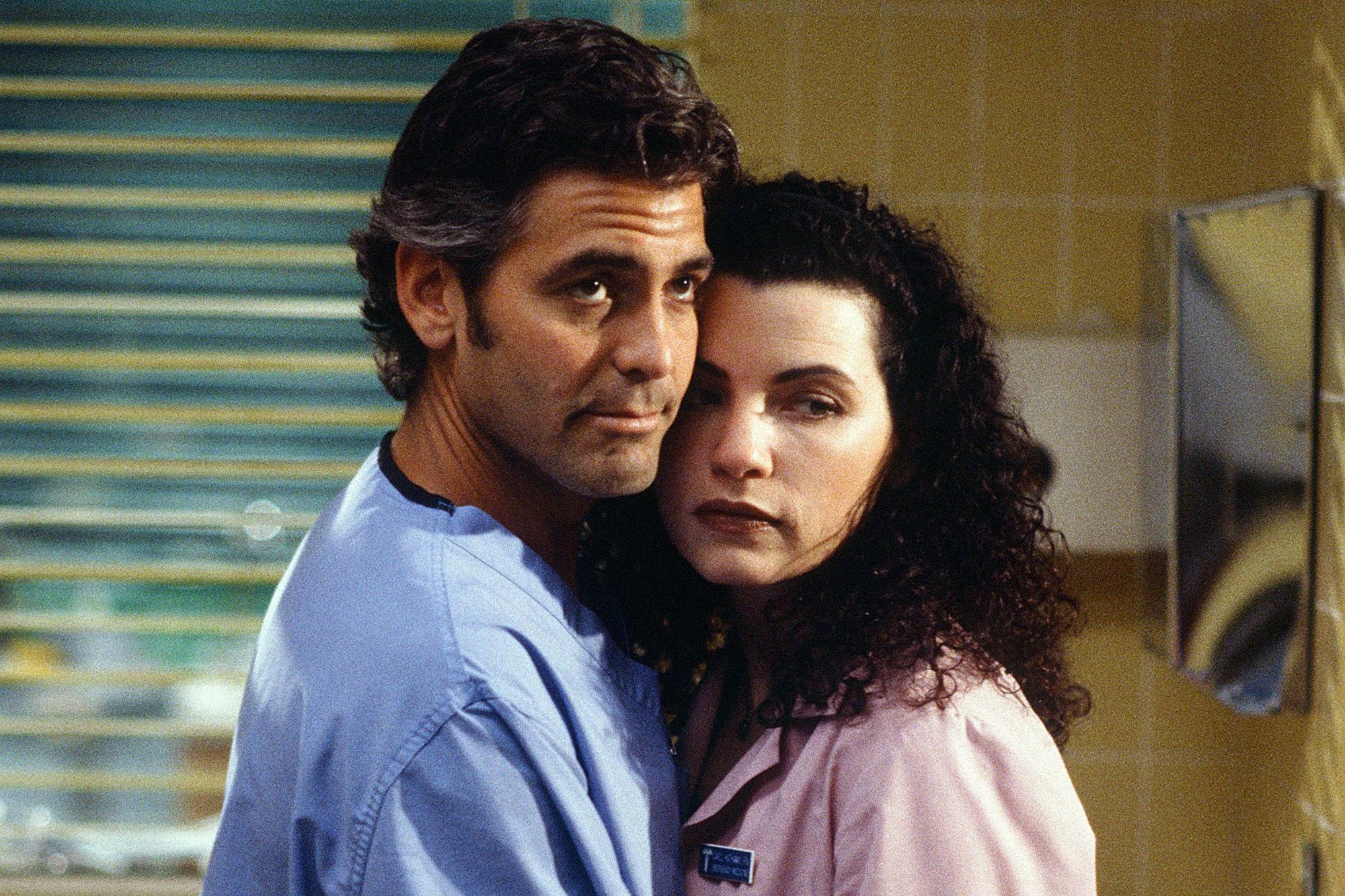 ER George Clooney as Doctor Doug Ross, Julianna Margulies as Nurse Carol Hathaway
