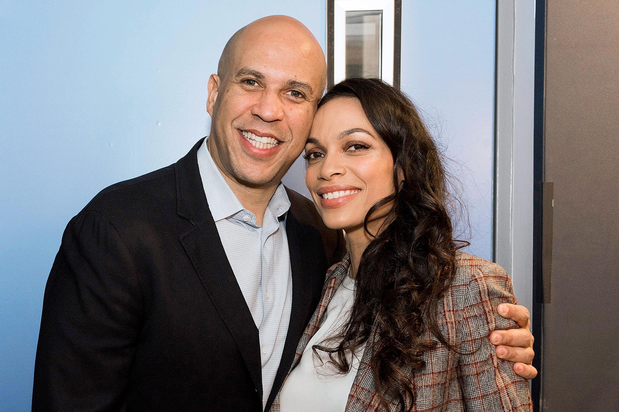 Senator Cory Booker and Rosario Dawson