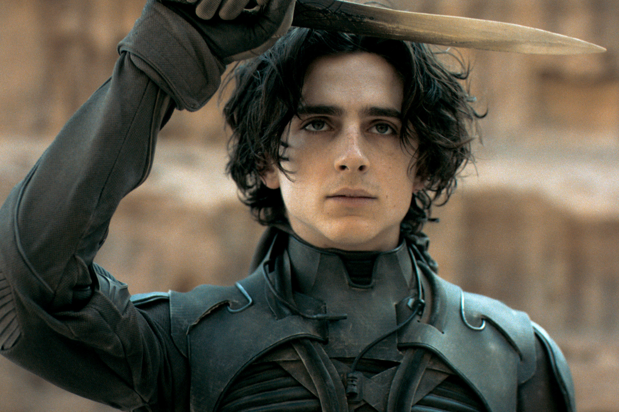 """TIMOTHÉE CHALAMET as Paul Atreides in Warner Bros. Pictures' and Legendary Pictures' action adventure """"DUNE,"""" a Warner Bros. Pictures release."""