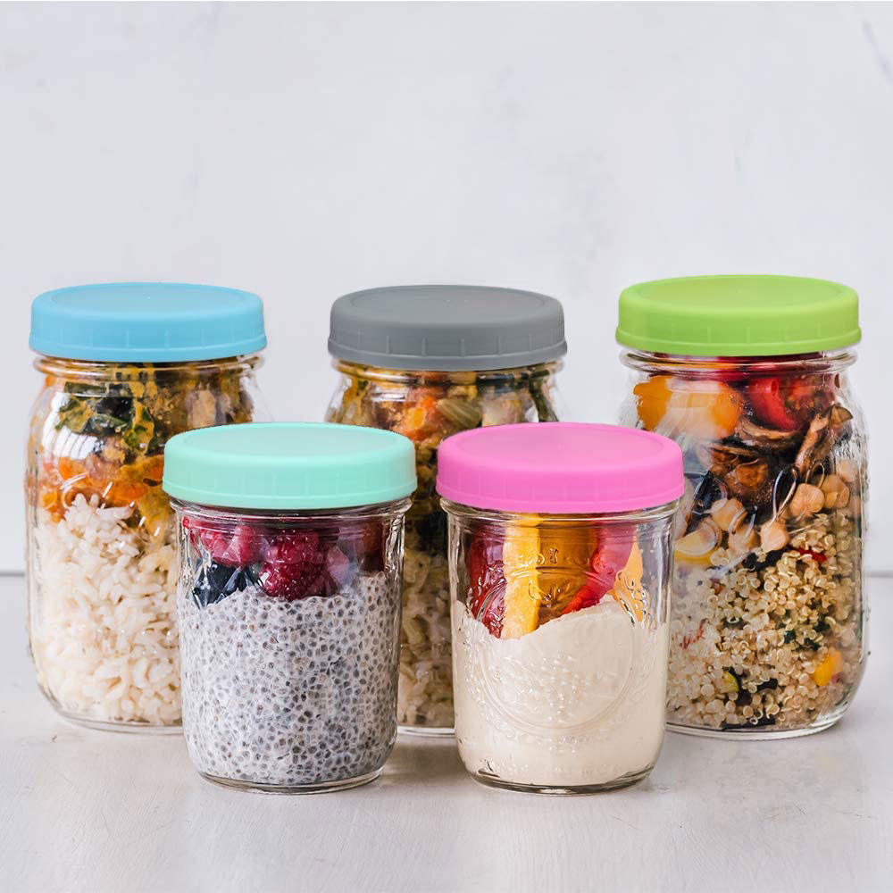 Aozita Mason Jar Lids in multiple colors