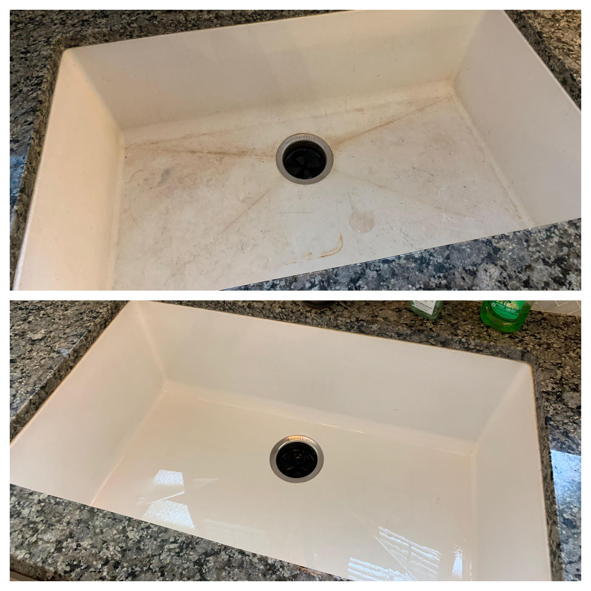 Dirty Sink Before and After