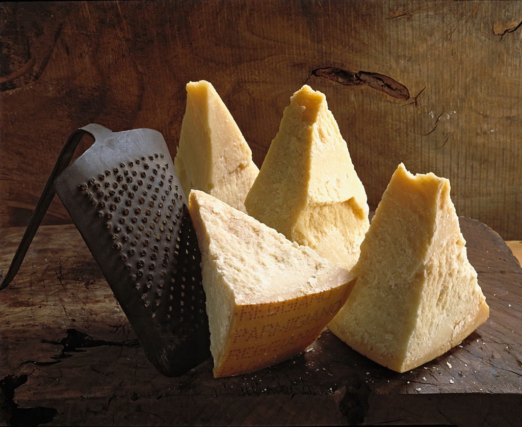Parmesan cheese wedges