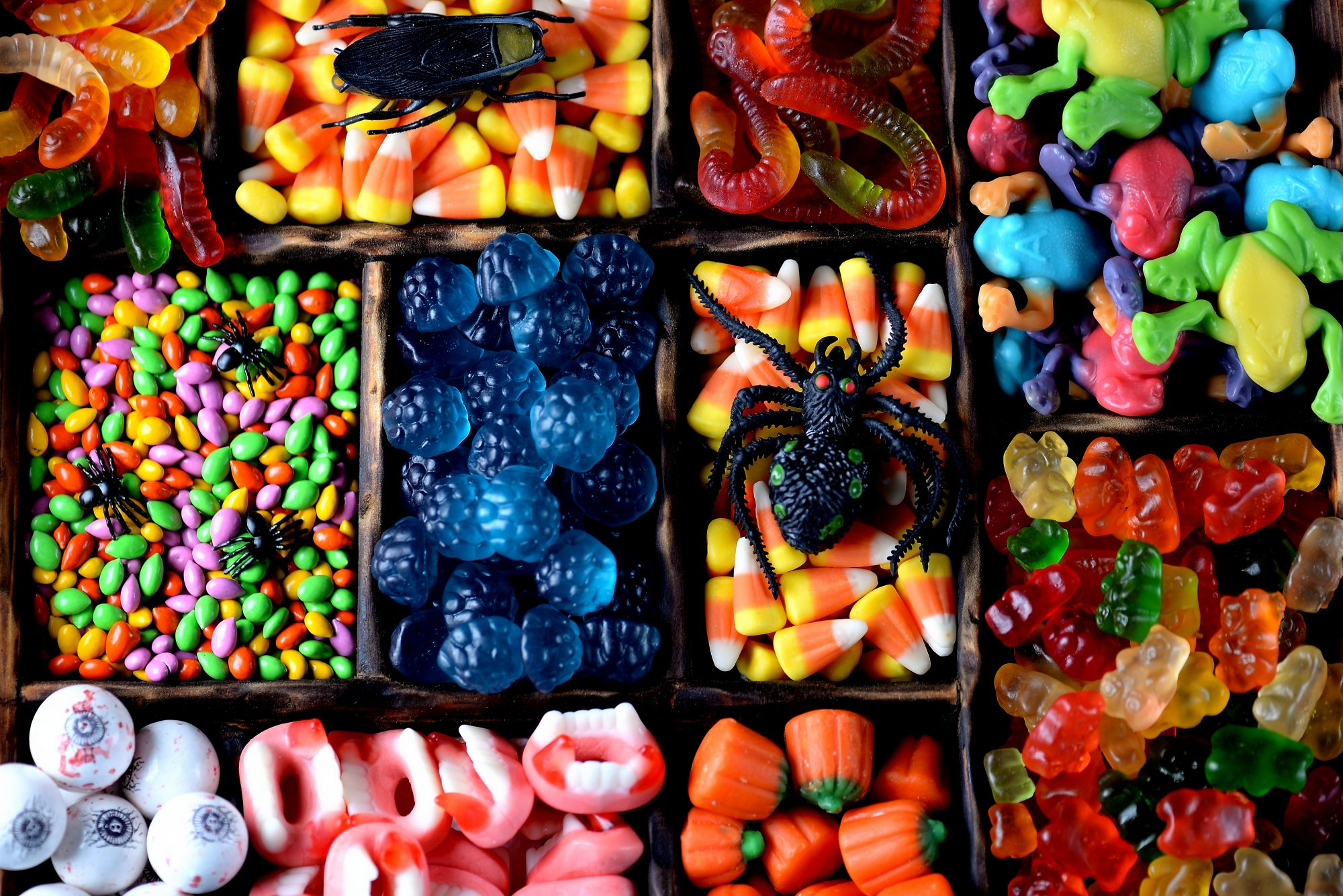 Different kinds of candy together