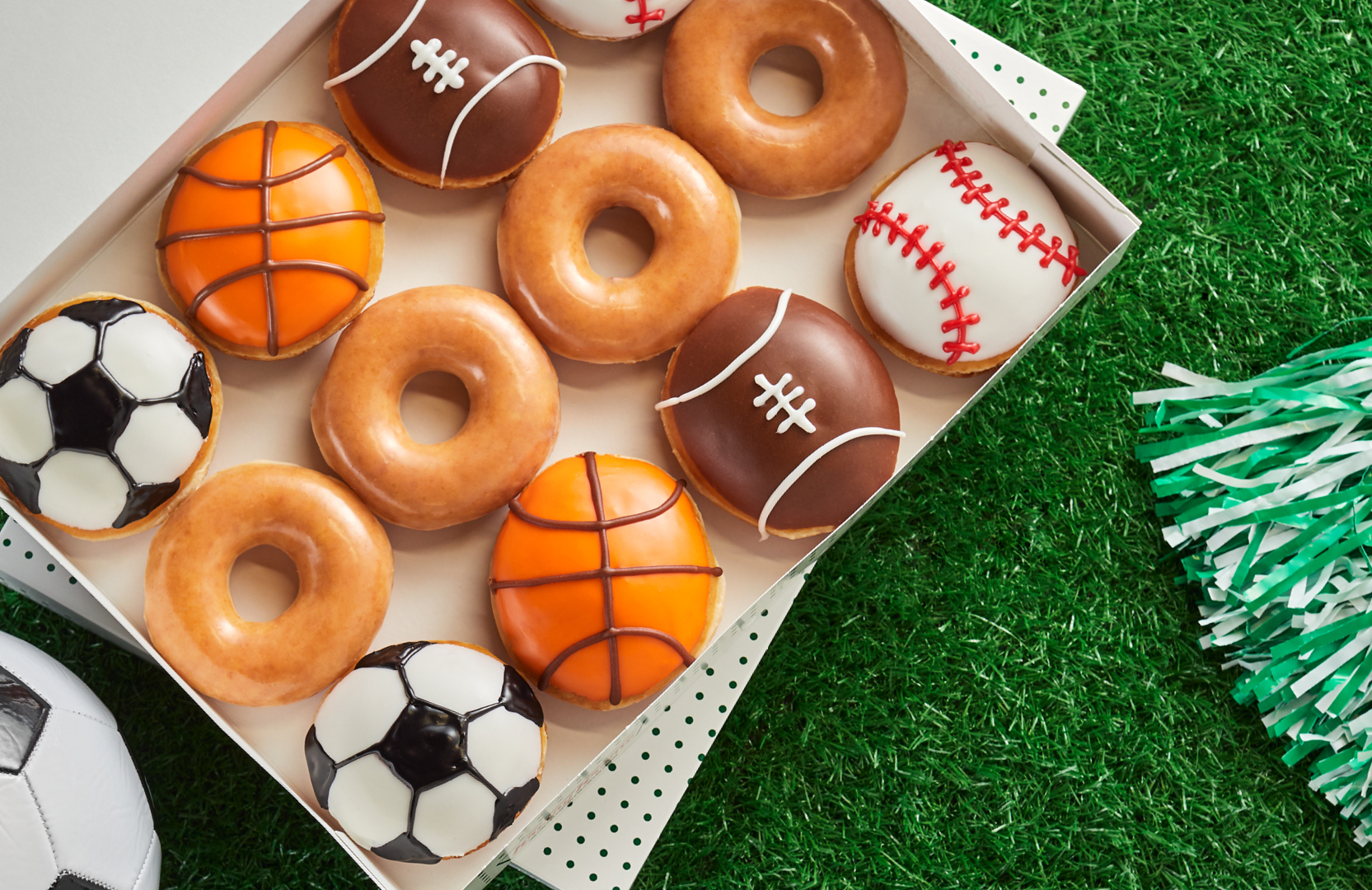 Krispy Kreme's limited-time Sports Dozen
