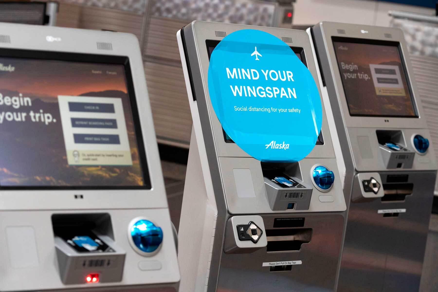 Alaska Airlines check-in terminals