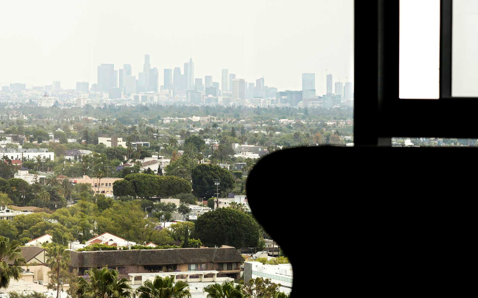 Window view from AKA West Hollywood, California