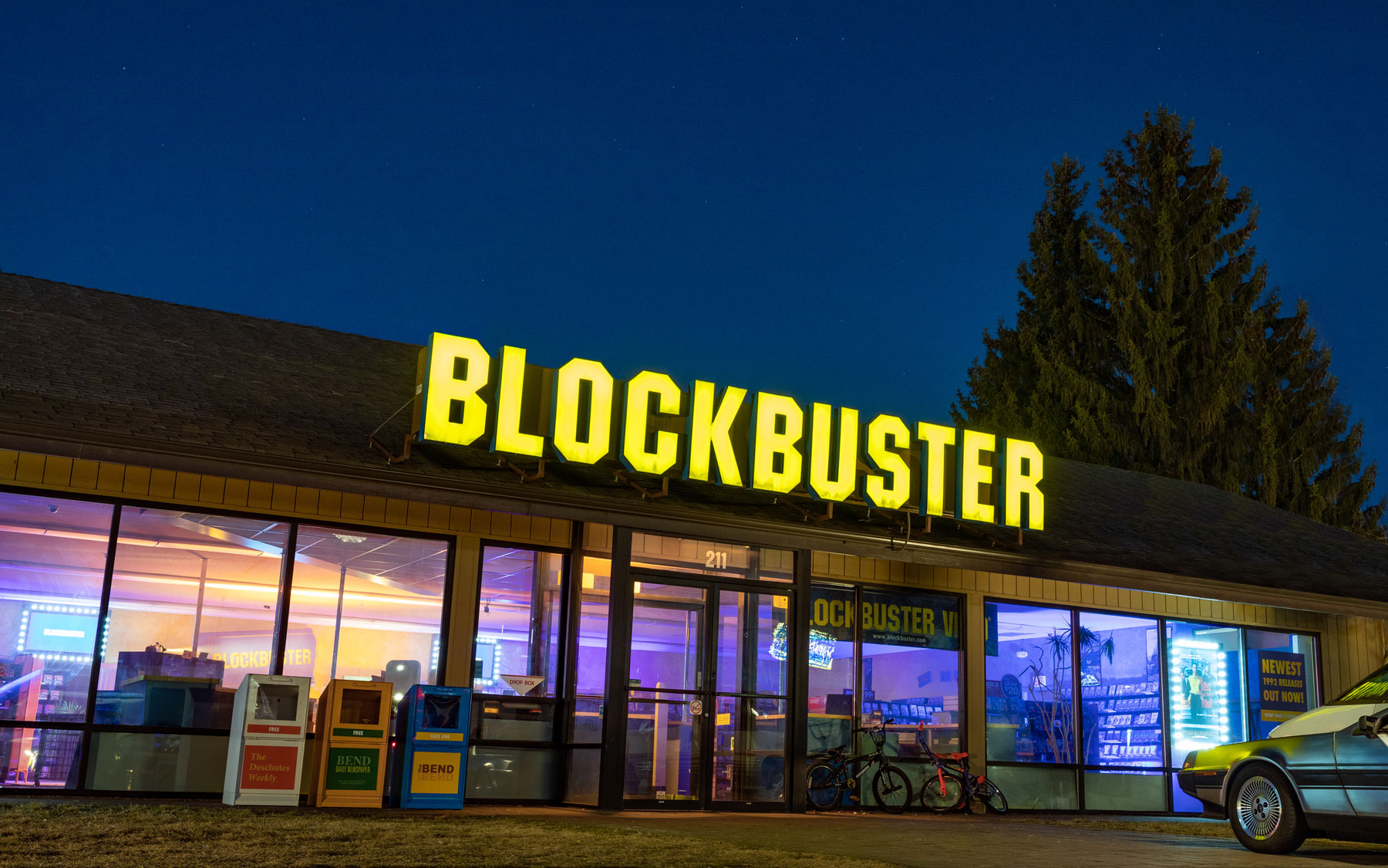Exterior of Blockbuster