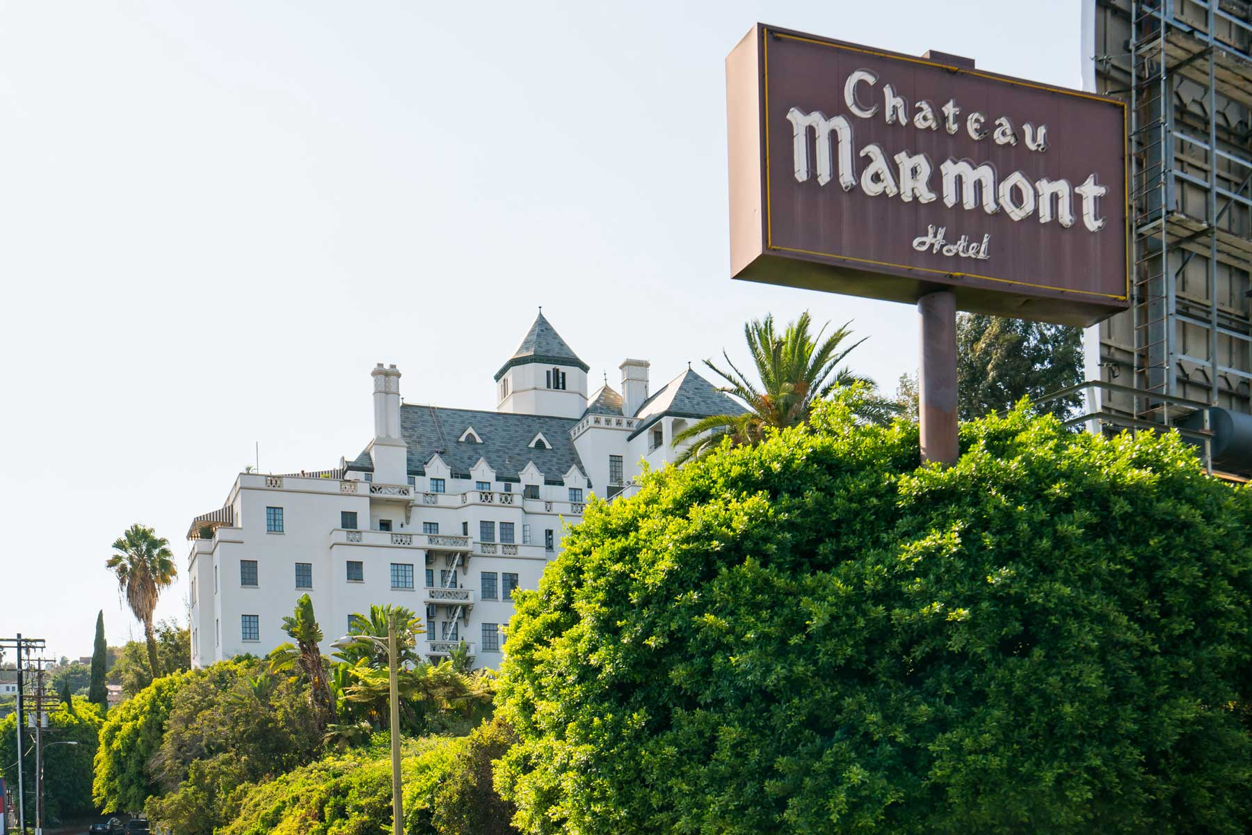 General view of the Chateau Marmont Hotel on December 05, 2016 in Los Angeles, California.