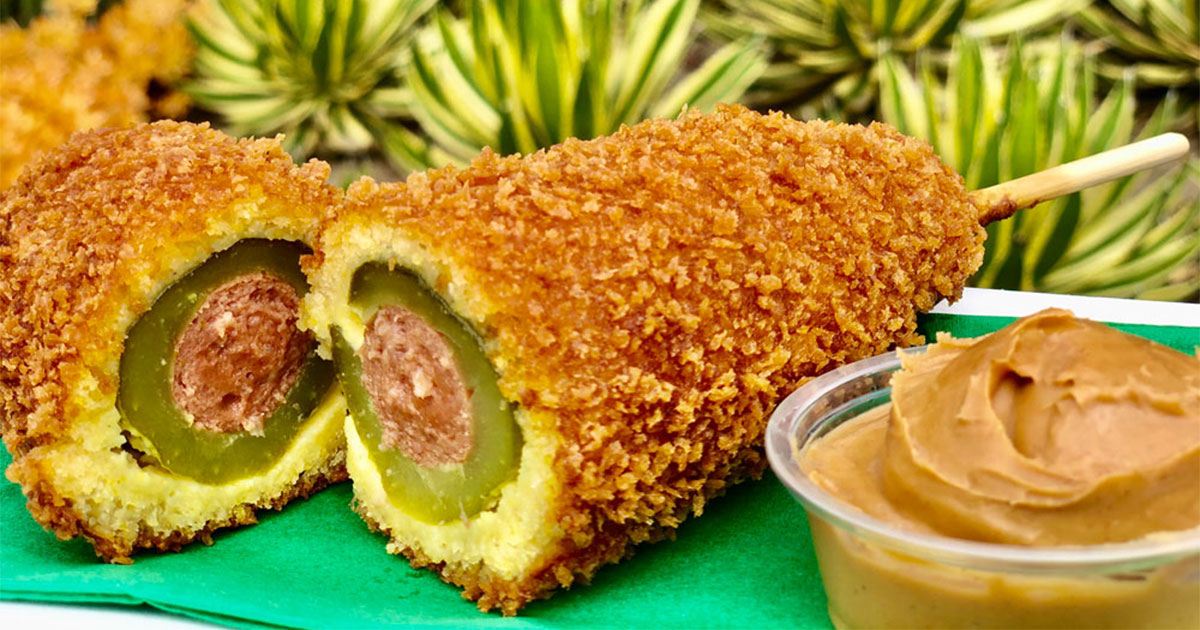 the new pickle corn dog at disneyland