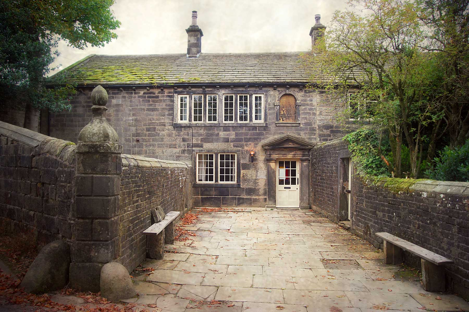 Historic house near Haworth, West Yorkshire, England with many connections with the literary Bronte sisters who lived in the 19th century.