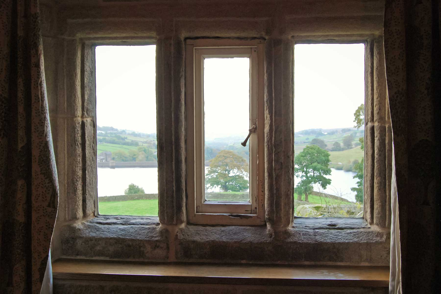 View Out of Earnshaw Room Window, Ponden Hall