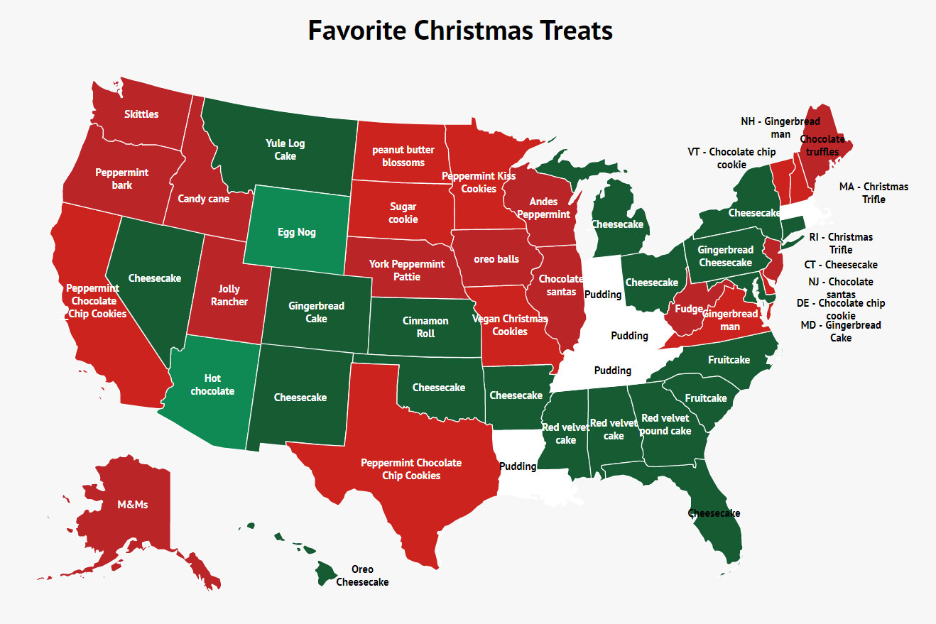favorite christmas treats map