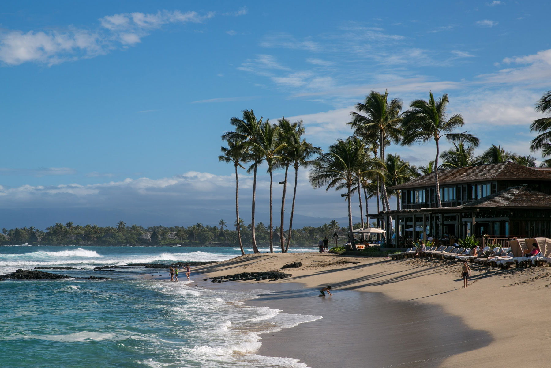 beach at the Four Seasons Hotel Hualalai