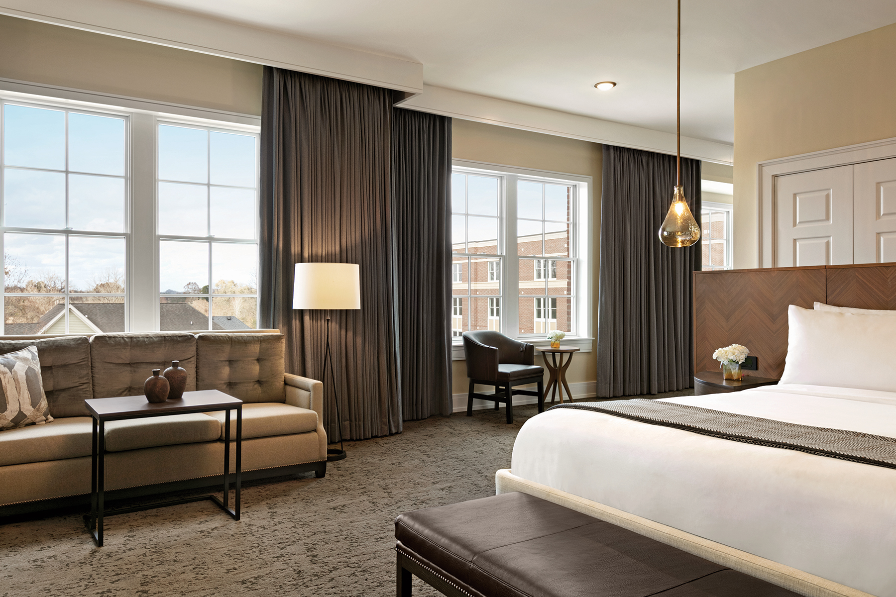 Interior of a Jr. Suite at The Harpeth Hotel, Curio Collection by Hilton