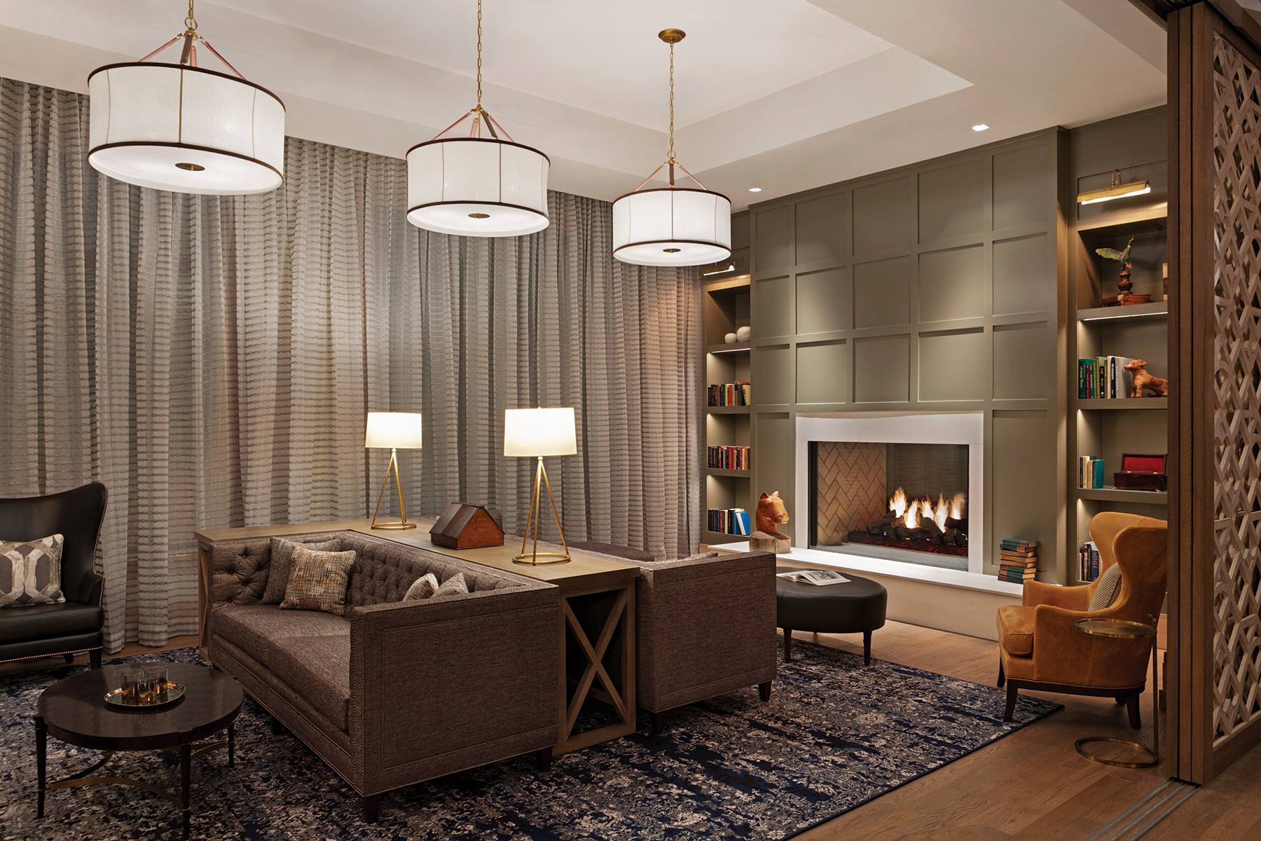 The library at The Harpeth Hotel, Curio Collection by Hilton