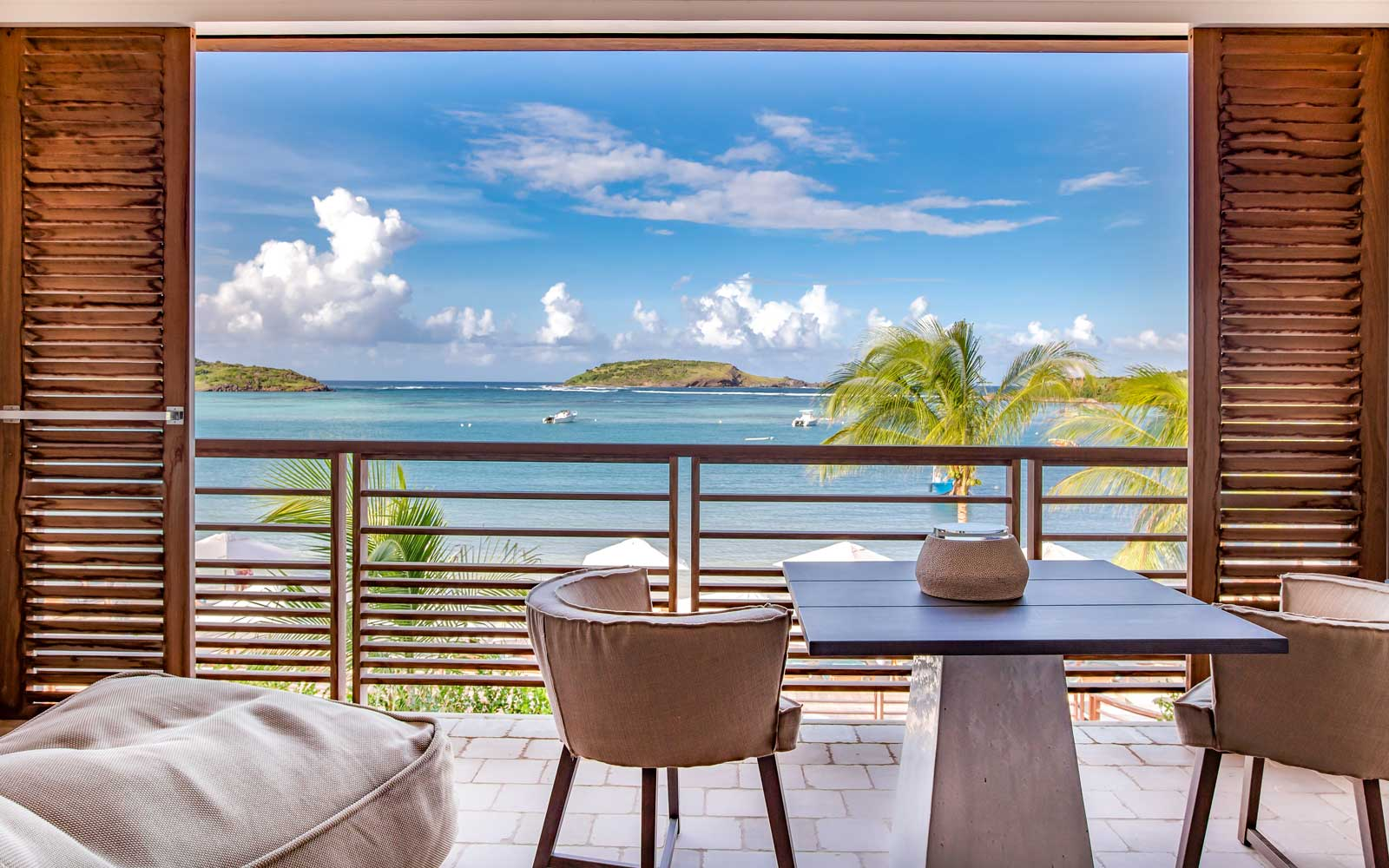 Window view from Le Barthelemy Hotel & Spa in St. Barth's, French West Indies
