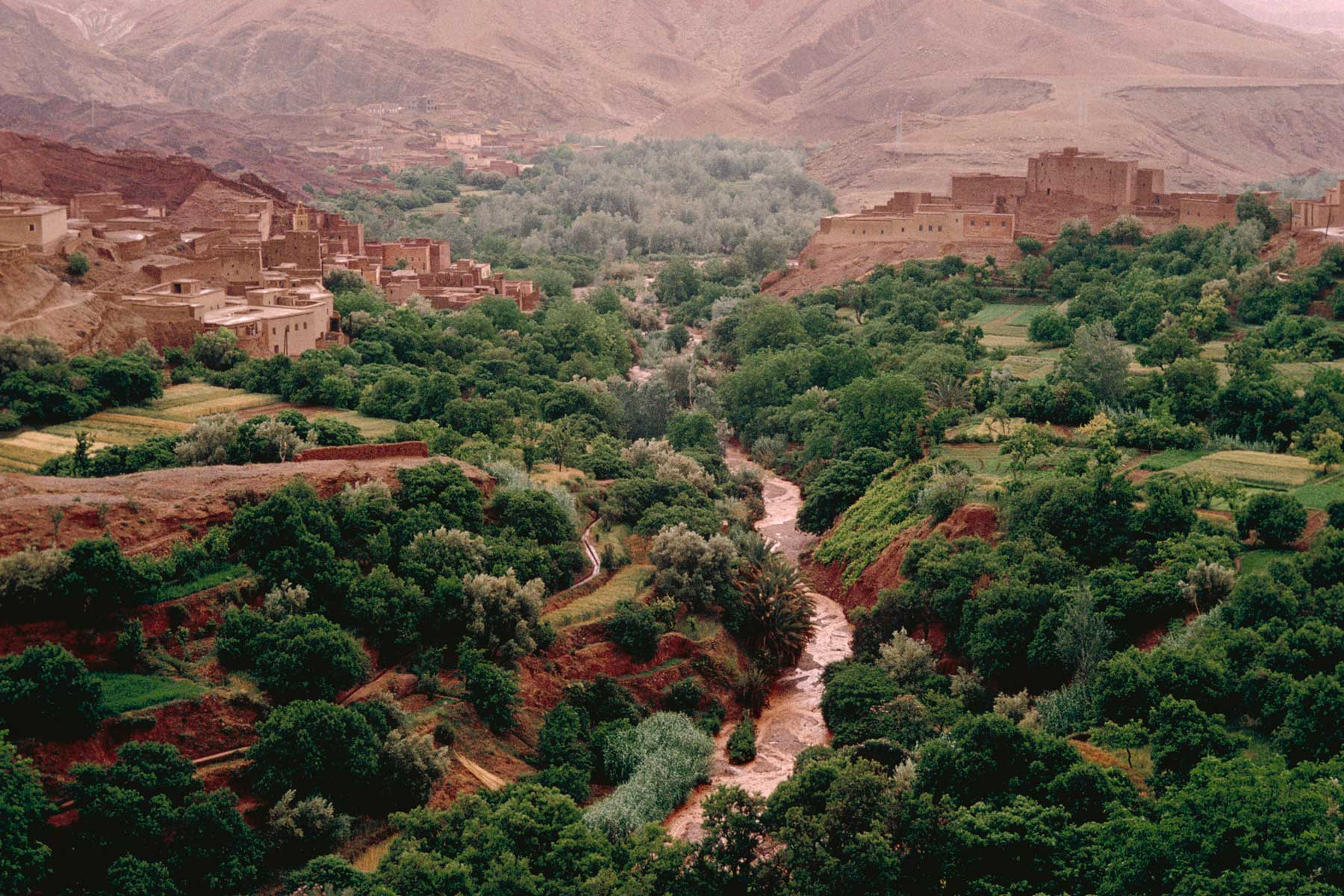 River Valley of Meknes in Morocco
