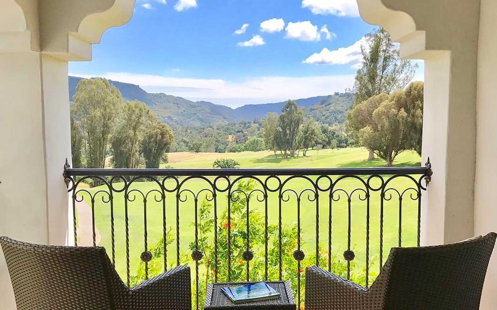 Window view from Ojai Valley Inn