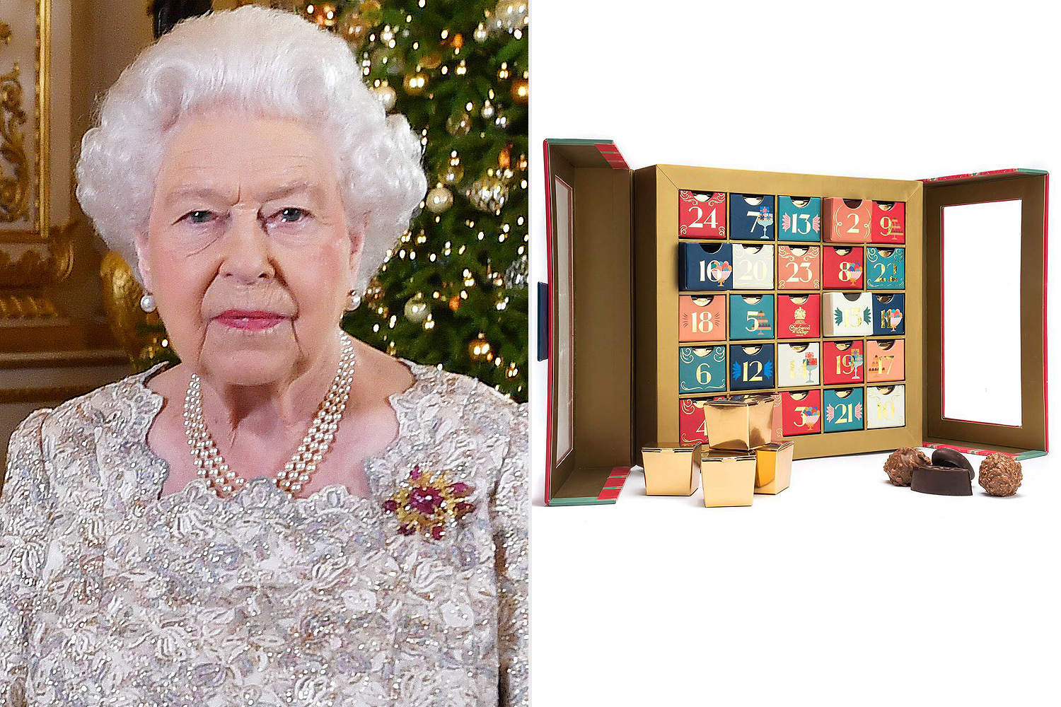 Queen Elizabeth II, advent calendar