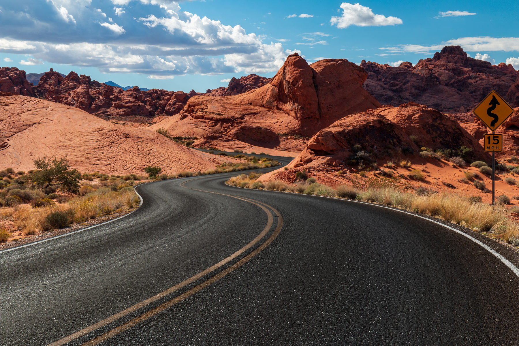 Dramatic Valley of Fire State Park Landscape Views
