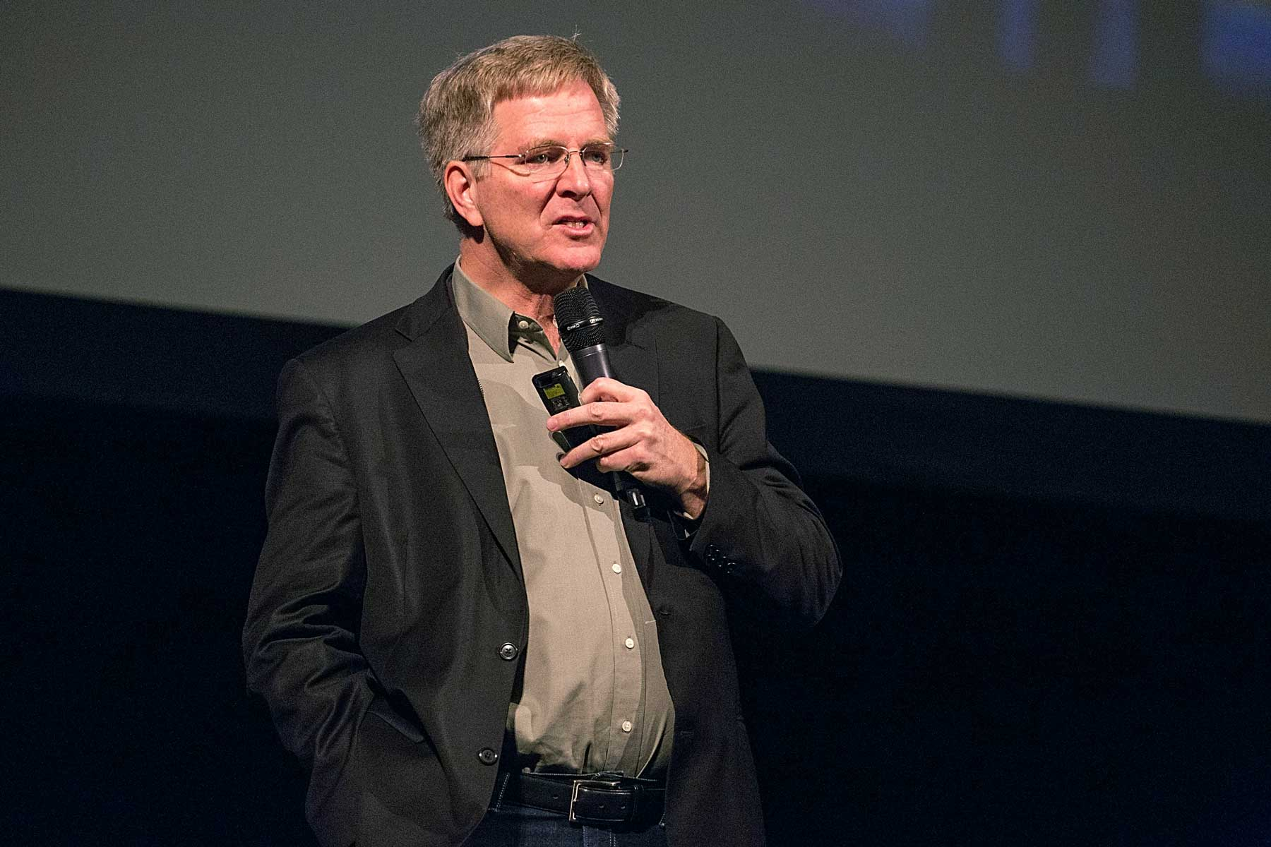 Travel author and TV personality Rick Steves speaks on stage at The Paramount Theatre on December 3, 2014 in Austin, Texas.