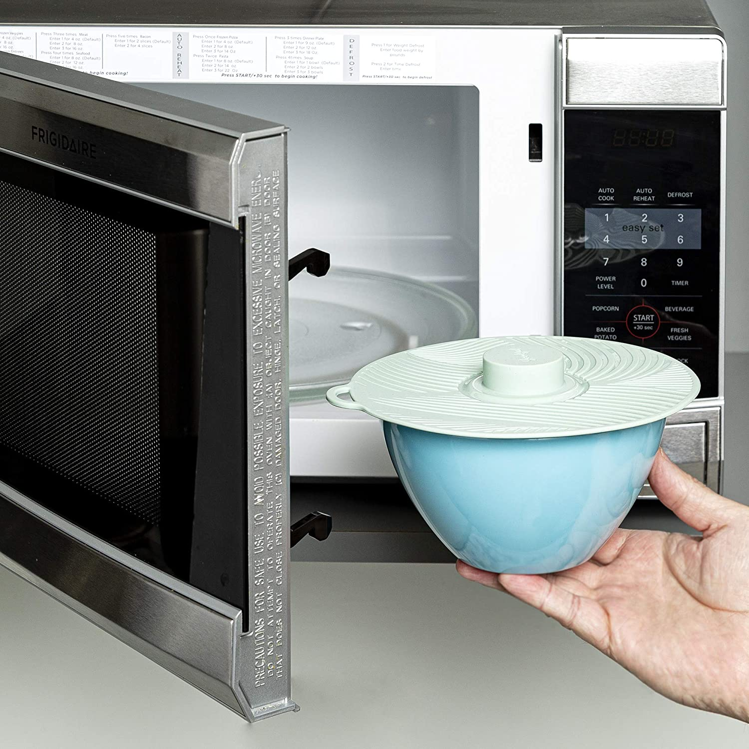 silicone microwave topper