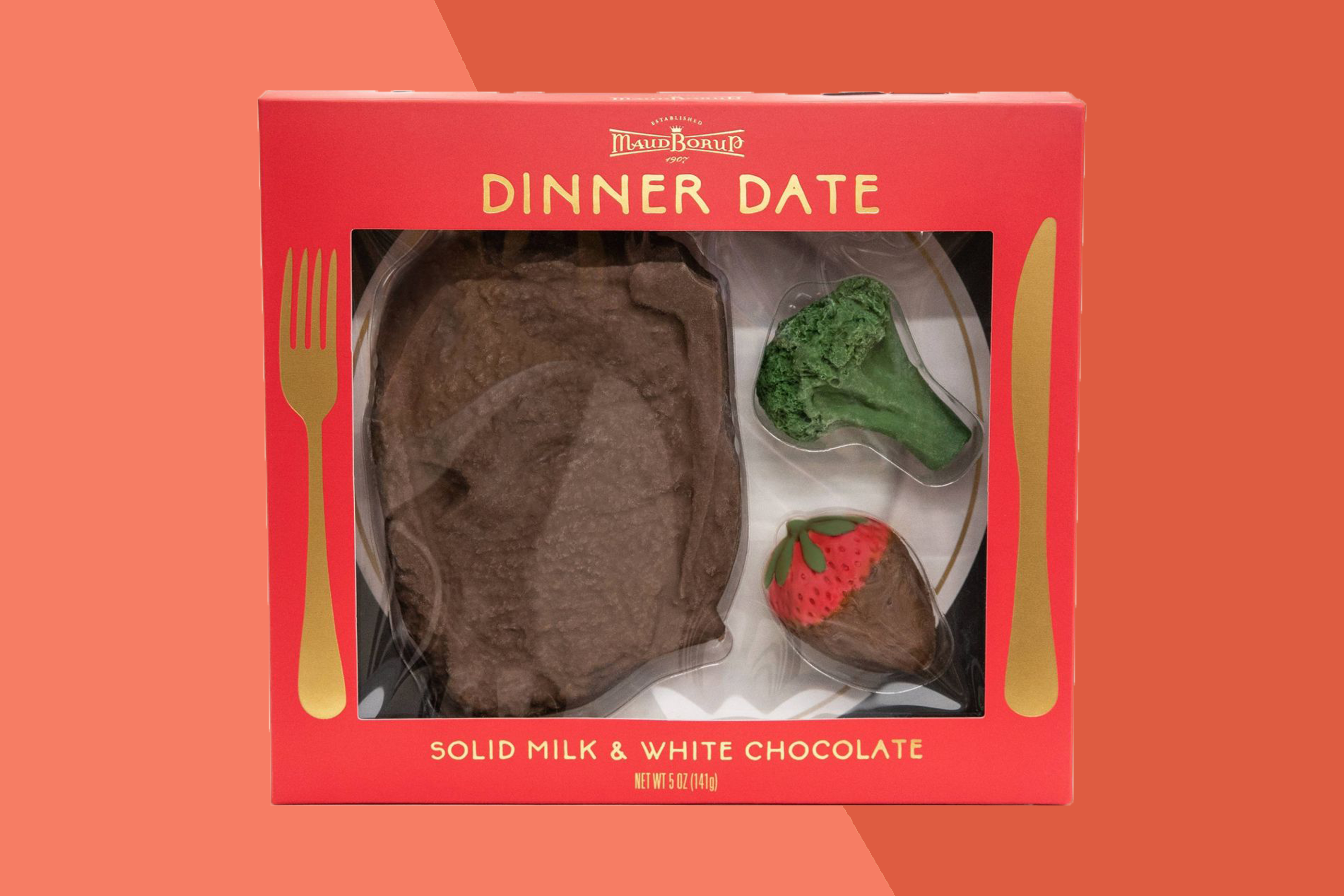 maud borup chocolate steak dinner date valentine's day set